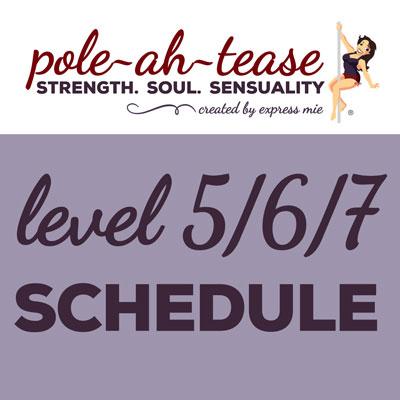 Level 5/6/7 Schedule