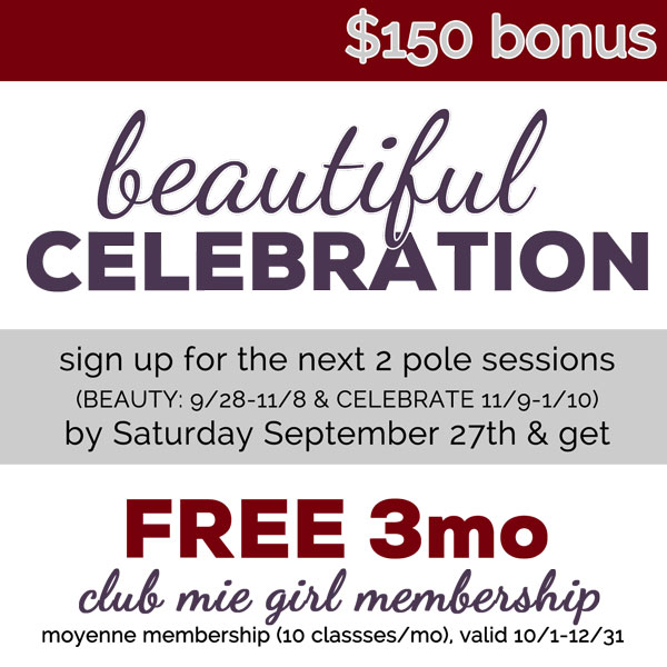 Beautiful Celebration Special Ends 9/27