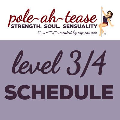 Level 3/4 Schedule